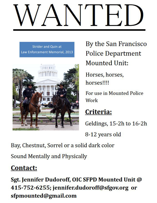 WANTED BY SFPD!