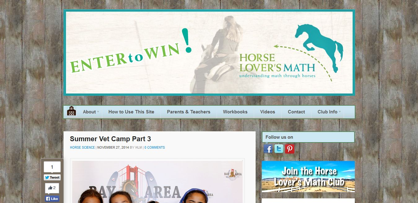 Summer Vet Camp Part III on HorseLoversMath.com